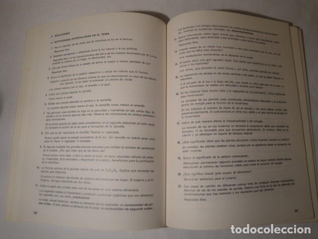 Libros: Solucionario-Guía Ciencias de la Naturaleza 7º E.G.B. Editorial Luis Vives. Año 1985 - Foto 5 - 148765490