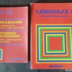 Libros: LOTE LENGUAJE 8 SANTILLANA 1983 Y PROGRAMACIÓN EDICIÓN PARA EL PROFESOR. 1984. SIN USO.. Lote 149679542