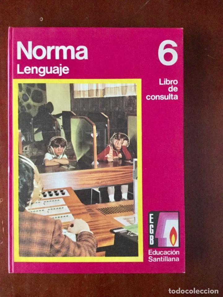 NORMA. LENGUAJE 6º EGB. SANTILLANA. AÑO: 1976 (Libros Nuevos - Libros de Texto - Ciclos Formativos - Grado Medio)