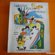 Libros: CUENTOS , JUEGOS Y POESIAS. Lote 151974070