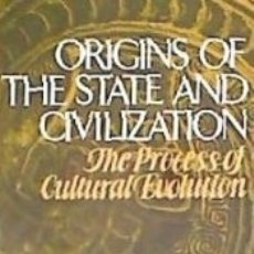 Livres: ORIGINS OF THE STATE AND CIVILIZATION: T. Lote 160786372