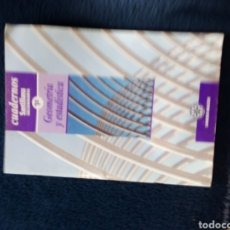 Libros: GEOMETRÍA Y ESTADISTICA ESO 1998. Lote 162812496