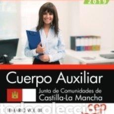 Libros: CUERPO AUXILIAR. JUNTA DE COMUNIDADES DE CASTILLA-LA MANCHA. TEMARIO. VOL. III. Lote 166969978
