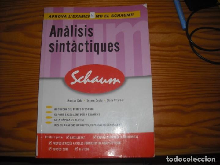 ANÁLISIS SINTÁCTICO PRÁCTICO (Libros Nuevos - Libros de Texto - Bachillerato)