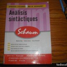 Libros: ANÁLISIS SINTÁCTICO PRÁCTICO. Lote 167012904