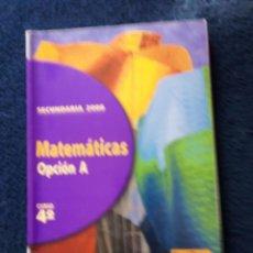 Libros: MATEMÁTICAS 4 ESO AÑO 1998. Lote 167167245