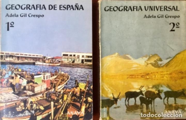 GEOGRAFIA DE ESPAÑA Y GEOGRAFIA UNIVERSAL. ANAYA. AÑO: 1963. SIN USAR. (Libros Nuevos - Libros de Texto - Bachillerato)