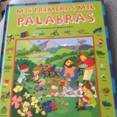Libros: LIBRO MIS PRIMERAS MIL PALABRAS DE MONTSE ADELL . Lote 169122388