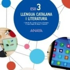 Libros: LLENGUA CATALANA I LITERATURA, 3 ESO. Lote 171430342