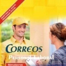 Libros: PERSONAL LABORAL DE CORREOS. SIMULACROS DE EXAMEN. Lote 171503780