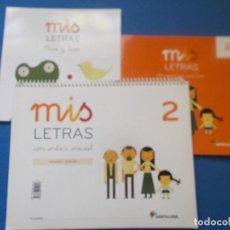 Libros: MIS LETRAS 2 - PAUTA - SANTILLANA ( SIN ESTRENAR ). Lote 171736079