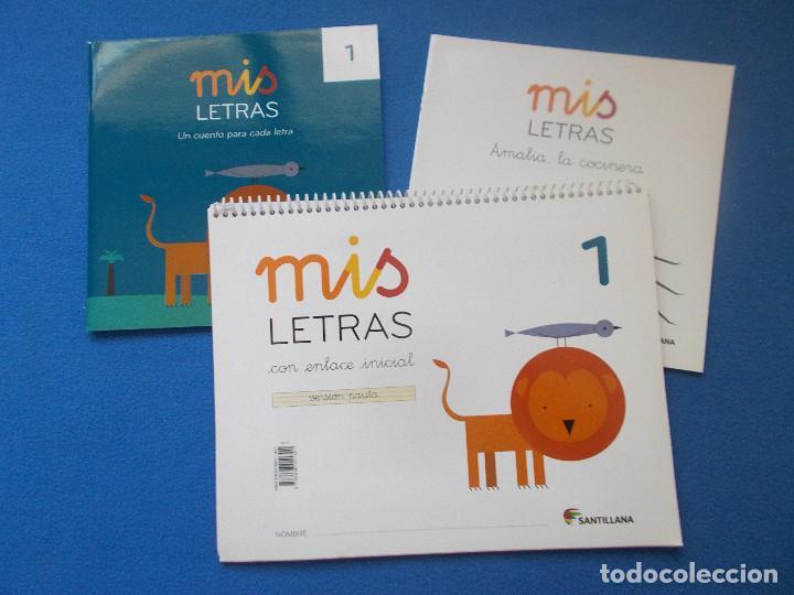 MIS LETRAS 1 - PAUTA - SANTILLANA ( SIN ESTRENAR ) (Libros Nuevos - Libros de Texto - Infantil y Primaria)