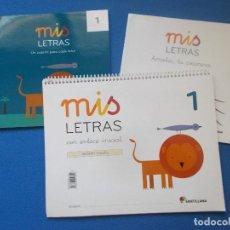 Libros: MIS LETRAS 1 - PAUTA - SANTILLANA ( SIN ESTRENAR ). Lote 171736455