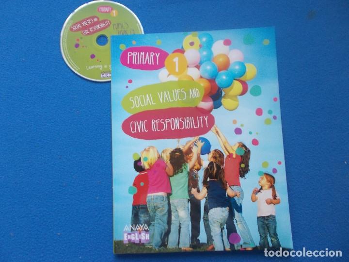 SOCIAL VALUES AND CIVIC RESPONSABILITY - ANAYA - ENGLISH ( SIN ESTRENAR ) (Libros Nuevos - Libros de Texto - Infantil y Primaria)