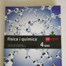 Libros: FÍSICA I QUÍMICA 4 CUARTO ESO, VALENCIÀ, SM ARRELS, CURSO 2018-19.. Lote 172463357