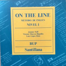 Libros: INGLÉS ON THE LINE. 1º BUP. SANTILLANA. NUEVO. Lote 172649462