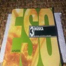 Libros: LIBRO 3 MÚSICA ANAYA. Lote 172812718