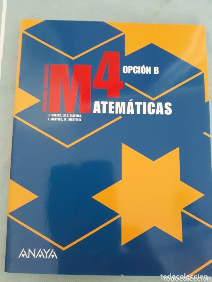MATEMÁTICAS 4 OPCIÓN B, ANAYA. (Libros Nuevos - Libros de Texto - ESO)
