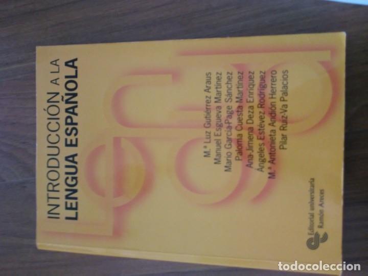 INTRODUCCIÓN A LA LENGIA ESPAÑOLA (Libros Nuevos - Libros de Texto - Ciclos Formativos - Grado Superior)