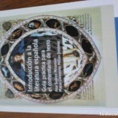 Livres: INTRODUCCIÓN A LA LITERATURA ESPAÑOLA. Lote 173640369