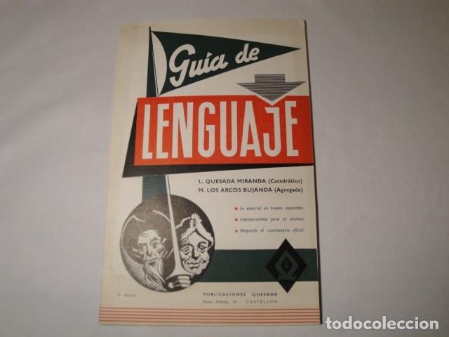 GUÍA DE LENGUAJE. 4ª EDICIÓN. AÑO 1976. PUBLICACIONES QUESADA. NUEVA. (Libros Nuevos - Libros de Texto - Ciclos Formativos - Grado Medio)