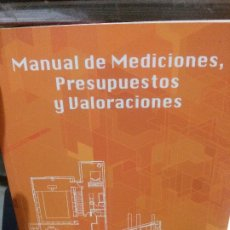 Libros: MANUAL DE MEDICIONES, PRESUPUESTOS Y VALORACIONES, CARMEN ROMERO Y CARLOS CANOSA DE LOS CUETOS.. Lote 178724511