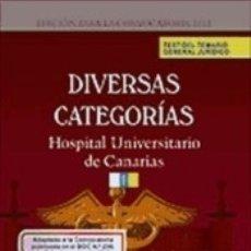 Libros: TEST DEL TEMARIO GENERAL JURÍDICO PARA DIVERSAS CATEGORÍAS DEL COMPLEJO HOSPITALARIO UNIVERSITARIO. Lote 178866873