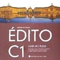 Libros: EDITO C1 LIVRE D ELEVE + DVD ROM. Lote 178935116