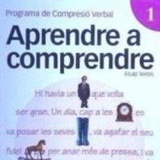 Libros: APRENDRE A COMPRENDRE 1. Lote 179245453