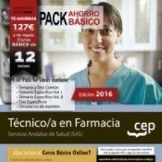 Libros: PACK AHORRO BÁSICO. TÉCNICO/A EN FARMACIA. SERVICIO ANDALUZ DE SALUD (SAS). Lote 179399627