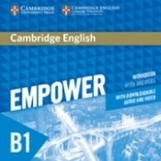 Libros: CAMBRIDGE ENGLISH EMPOWER FOR SPANISH SPEAKERS B1 WORKBOOK WITH ANSWERS, WITH DOWNLOADABLE AUDIO. Lote 180009981