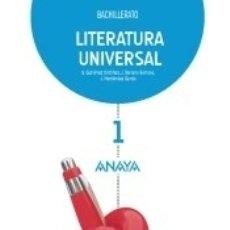 Libros: LITERATURA UNIVERSAL, 1 BACHILLERATO. Lote 180099335
