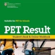 Libros: PET RESULT STUDENTS BOOK + ONLINE WORKBOOK. Lote 180446422