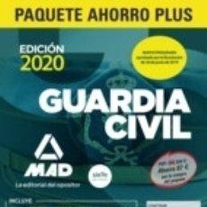 Libros: PAQUETE AHORRO PLUS GUARDIA CIVIL 2020. Lote 180853277