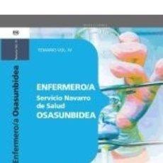 Libros: ENFERMERO/A DEL SERVICIO NAVARRO DE SALUD-OSASUNBIDEA. TEMARIO VOL.IV. Lote 180875956