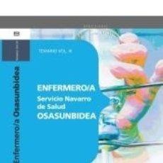 Libros: ENFERMERO/A DEL SERVICIO NAVARRO DE SALUD-OSASUNBIDEA. TEMARIO VOL.III. Lote 180875982
