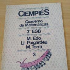 Libros: CIENPIÉS 3 EGB N 3 CUADERNO MATEMÁTICAS. NUEVO. Lote 188803866