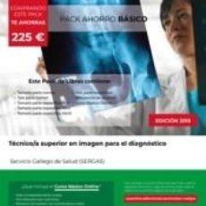 Libros: PACK AHORRO BÁSICO. TÉCNICO/A SUPERIOR EN IMAGEN PARA EL DIAGNÓSTICO. SERVICIO GALLEGO DE SALUD. Lote 191047551