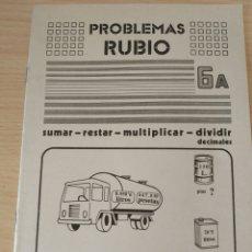 Libros: PROBLEMAS RUBIO 6A OPERACIONES CON DECIMALES. NUEVO. Lote 191269627