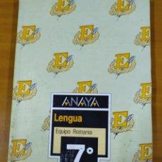 Libros: LIBRO LENGUA 7 EGB ANAYA. Lote 191937033