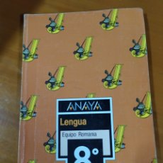 Livres: LIBRO LENGUA 8 EGB ANAYA. Lote 191937053