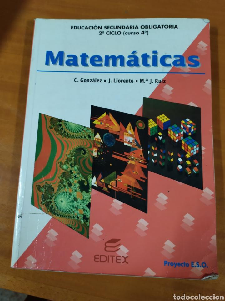 LIBRO MATEMÁTICAS ESO 4 (Libros Nuevos - Libros de Texto - ESO)