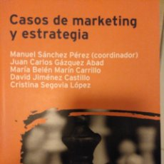 Libros: CASOS DE MARKETING Y ESTRATEGIA. Lote 192068368
