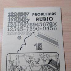 Livres: PROBLEMAS RUBIO N 18. NUEVO. Lote 283034633