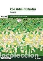 TEMARI 1 COS ADMINISTRATIU DE LA GENERALITAT DE CATALUNYA (Libros Nuevos - Libros de Texto - Infantil y Primaria)