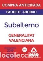 PAQUETE AHORRO SUBALTERNO DE LA GENERALITAT VALENCIANA (Libros Nuevos - Libros de Texto - Infantil y Primaria)