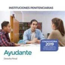 Libros: AYUDANTE DE INSTITUCIONES PENITENCIARIAS. DERECHO PENAL. Lote 193987978
