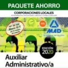 Libros: PAQUETE AHORRO AUXILIAR ADMINISTRATIVO DE CORPORACIONES LOCALES. Lote 195165135