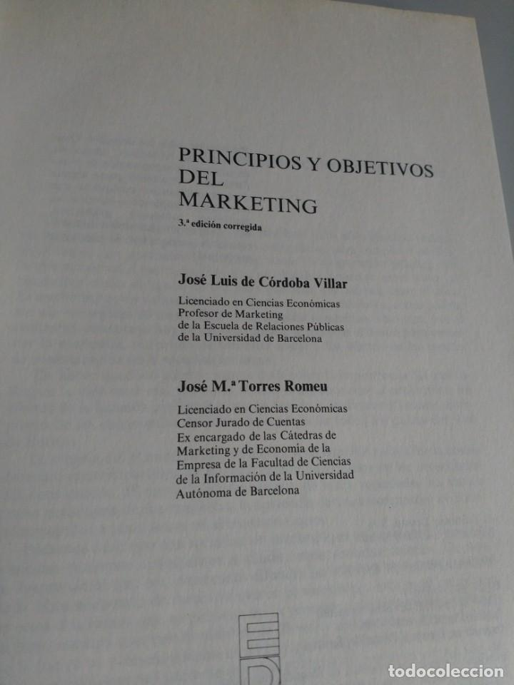 Libros: Principios y objetivos del marketing,J.L Cordoba - Foto 3 - 195371227