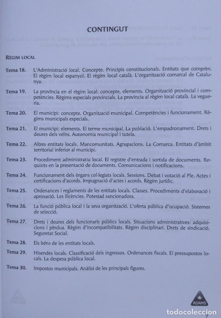 Libros: AUXILIARS ADMINISTRATIUS: CORPORACIONS LOCALS. TEMARI 1 Y 2 - Foto 5 - 243765365